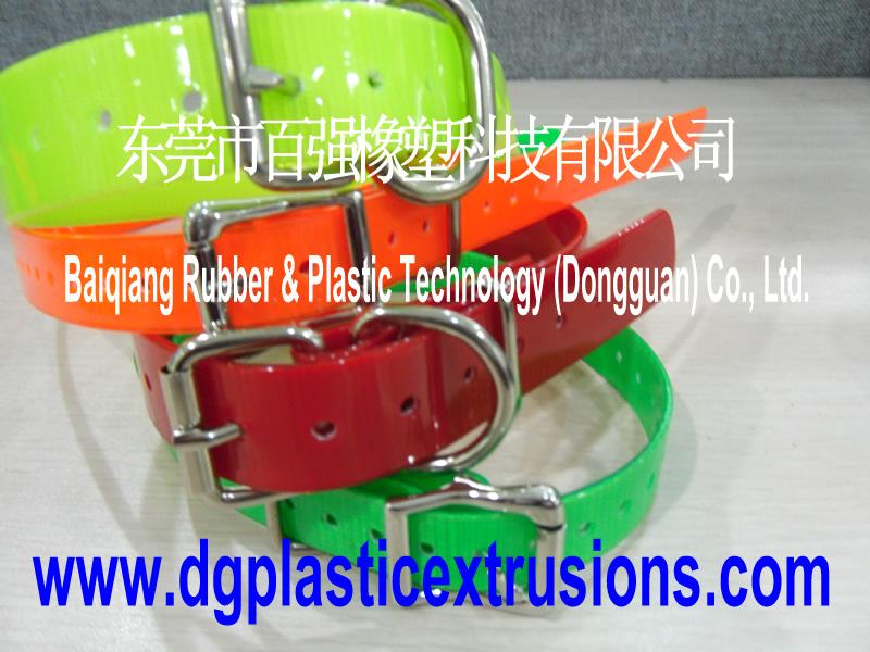 Waterproof dog collar be made of polyurethane coated webbing
